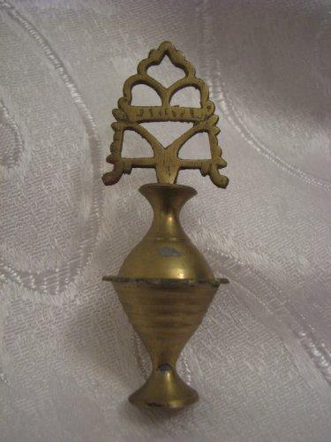 Vintage PERFUME / KOHL KAJAL SURMA Brass Bottle Jerusalem, Israel