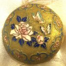 BEAUTIFUL BUTTERFLIES & FLOWERS ENAMEL CLOISONNE ANTIQUE CHINESE SNIFF PILL BOX
