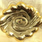 GORGEOUS ROMANTIC SCENE 800 SILVER INSERT PLATE DISH ITALY