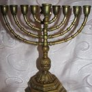 ANTIQUE Heavy Bronze Hanukkah Menorah Lamp 1.6 kg