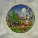 "Little Red Riding Hood Art Plate ~ Barbara Furstenhofer, Bavaria Germany 9.5"""