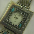 FANTASTIC HAND MADE STERLING & TURQUOISE WATCH by PRESTIGE SILVER, ISRAEL