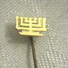 Jewish MENORAH 14k gold pin Israel 1950