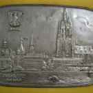 FRANKFURT AM MAIN 1970-71 Iron Art Plaque by Mootz, West Germany