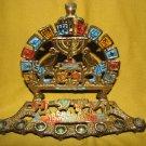 JERUSALEM OF GOLD ~ PHOENIXES Hanukkah Menorah Lamp, Israel ~ Vintage