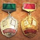 Russian Soviet Excellent Border Guards Medals Badges