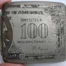 ANTIQUE $100 1923 DOLLAR BILL WASHINGTON CIGARETTE CASE