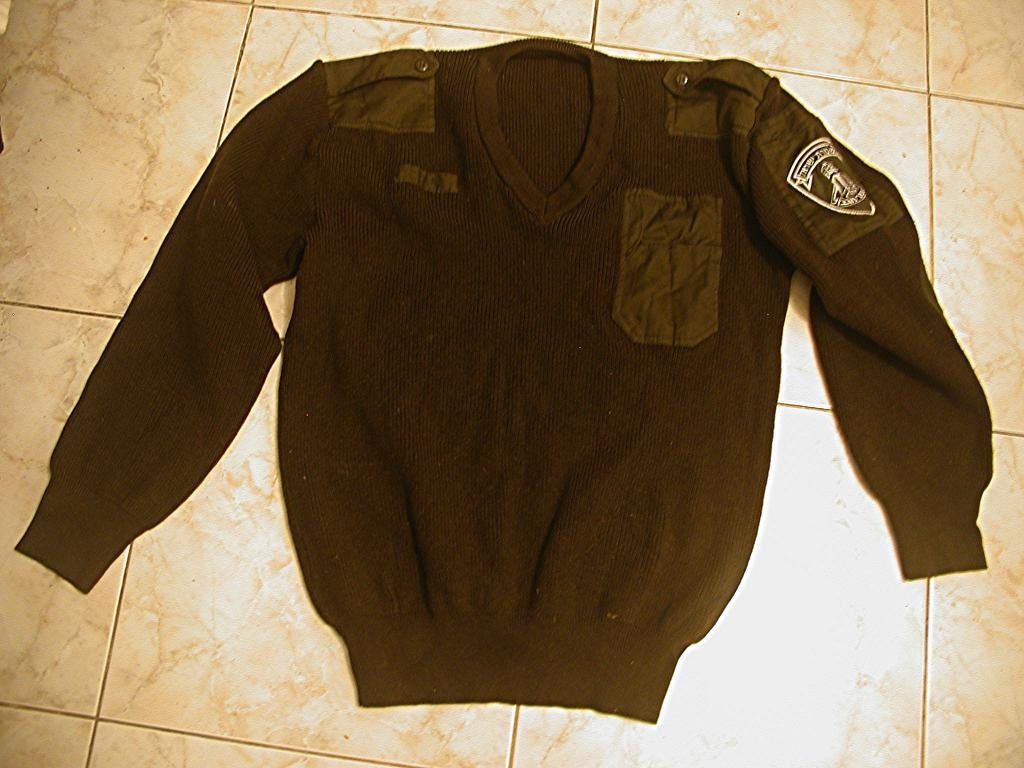 Vintage Excellent cond. Border Guard IDF Israel ZAHAL wool sweater + bonus