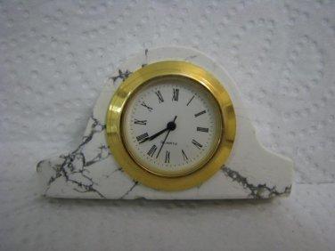 Rare Dragon Veins Agate Miniature Clock Roman Numeral