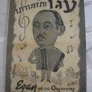 EDAN AND HIS ORCHESTRA Program Booklet , Jewish Palestine Eretz-Israel 1940's