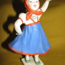 OLD RUSSIAN TILTING GIRL HAND PAINTED DOLL USSR 1960'S