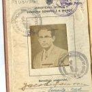DENTIST CERTIFICATE HARD COVER ROMANIA 1947
