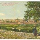 JERUSALEM PANORAMA FROM MT OF OLIVES PALESTINE POSTCARD