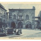 FOUNTAIN IN OLD SQUARE BERGAMO ALTA ITALY POSTCARD