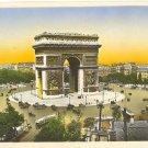 GORGEOUS STAR PLACE PARIS COLOR POSTCARD FRANCE