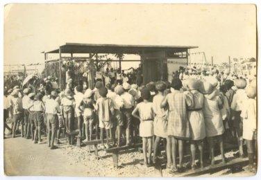 We build a Sukkah SUKKOT TEL AVIV PALESTINE PHOTO 1920s / AVRAHAM SUSKIN