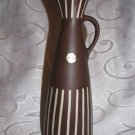 "LAPID Vintage Art Ceramic Pitcher Vase Israel Pottery 10.5"" tall"