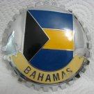 FLAG OF BAHAMAS CAR GRILLE ENAMEL BADGE EMBLEM 95 mm