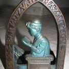 BEAUTIFUL VINT. JEWISH BAR-MITZVAH BRASS BOOKEND ISRAEL