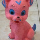PINK PUPPY WITH BLUE EYES RUBBER DOLL ISRAEL 1950'S