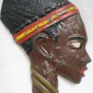 BEAUTIFUL AFRICAN WOMAN HEAD WALL DECOR ISRAEL 1950'S