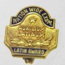 AUXILIUM LATINUM Study of Latin 10K GOLD PL. LAPEL PIN
