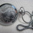 RUSSIAN HUNTING GROUSE DIAMANT POCKET WATCH WITH CHAIN