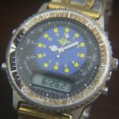 EGGED ISRAEL BUS CO. ALARM TACHYMETER DUAL TIME WATCH