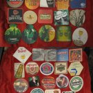 CARLSBERG, GUINNESS, Etc 45 Vintage Coasters from Israel Holland Germany Ireland
