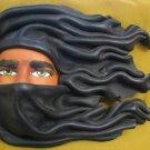 Black Leather Man's Mask / Wall Decor by Ricardo Cullare, Brasil