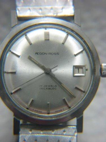 VINTAGE AEDON-ROSS SWISS DATE 17 JEWELS MEN'S WATCH
