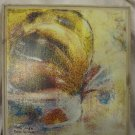"AMAZING ""COLORFUL SNAIL"" OIL ON CANVAS PAINTING by RAYA TALMOR ISRAEL~WOOD FRAME"