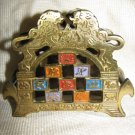 TRIBES OF ISRAEL ~ LIONS ~ BRASS NAPKIN HOLDER 1960'