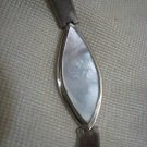 Vintage Sterling Silver Mother-of-Pearl Bracelet Israel