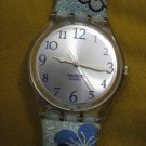 2002 Swatch Floral band watch