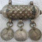 SPAIN 1800, BOLIVIA 1830 COINS SILVER AFGAN PENDANT