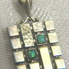 Sterling silver & 9k gold Opal Chess Pendant Israel