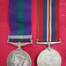 British Army African Pioneer Corps 1939-1945 & Palestine General Service medals