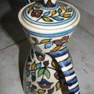 JERUSALEM ARMENIAN CERAMIC LARGE COFFEE POT & PITCHER