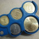 Vintage Coins Holder Dispenser Israel 1980's