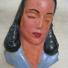Vintage Handpainted Ceramic Woman's Head Israel 1940-50