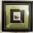 HAND CRAFTED AUSTRALIA $1 BUTTERFLY FRAMED STAMP ART by JOY PULFORD