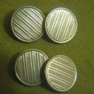 MURAT Antique French Gold plated Striped Cufflinks