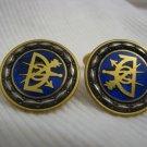 Vintage Masonic Blue Enamel Cufflinks Sporrong Sweden