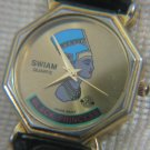 BLACK PRINCESS Swiam Quartz Watch 18k gold plated
