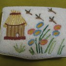 Japanese House Vintage embroidered and beaded compact
