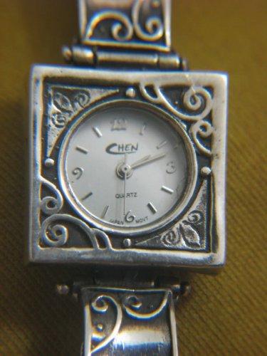 Very Retro Style CHEN / Grace Sterling Silver Quartz Watch Israel