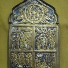 XIXthc Enamel Gilt Brass Russian Icon