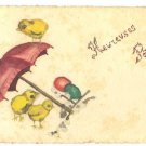 RARE VINTAGE HAND PAINTED EASTER CHICKS PC FRANCE