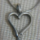 GRAS Designed Genuine Diamonds & Sterling Silver HEART Necklace, Israel